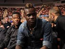 Mario Balotelli spotted at Cleverly vs Bellew in Liverpool... but the Reds face Crystal Palace in London on Sunday lunchtime